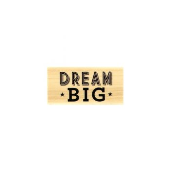 timbro legno dream big