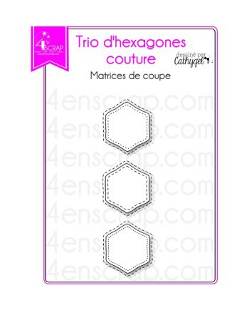 trio d hexagones couture