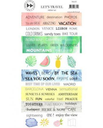 STICKERS LET'S TRAVEL