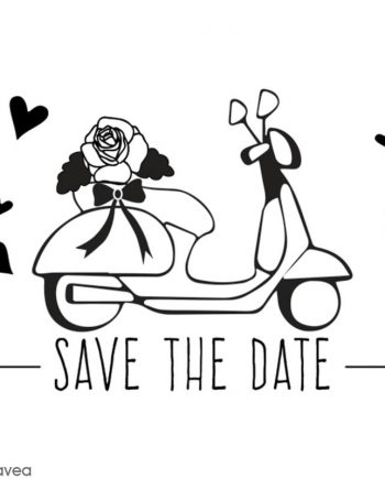 SAVE THE DATE SCOOTER