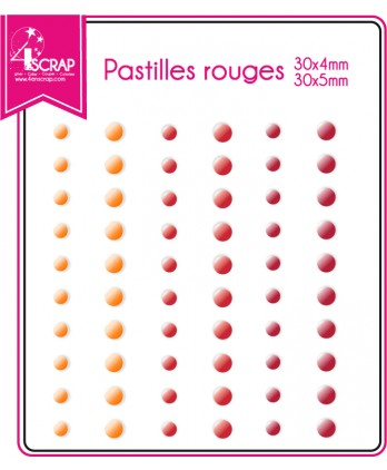 ENAMEL DOTS ROUGES